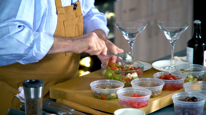 Chef Pépin assembles antipasto
