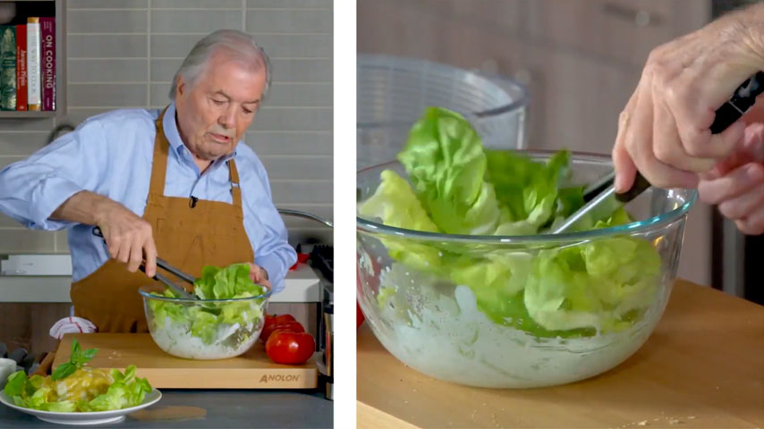 Chef Pépin makes three simple salads