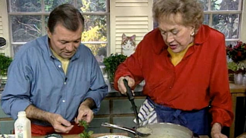 Jacques and Julia make soup