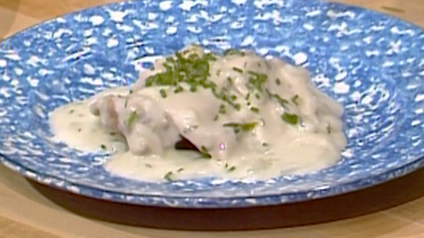 Jacques Pépin Budget Cooking Chicken in Cream Sauce