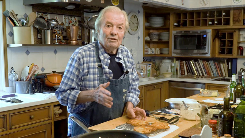Jacques Pépin makes apple fritters