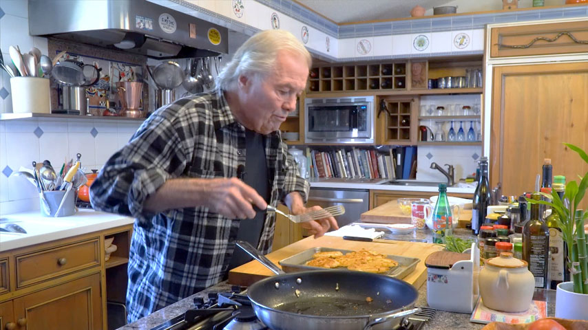 Jacques Pépin makes corn fritters