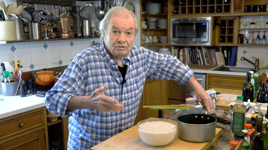 Jacques Pépin makes an easy fast bread