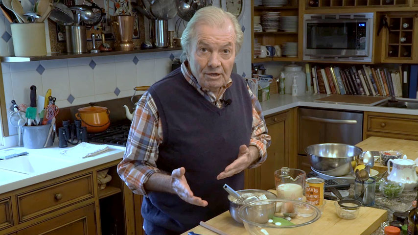 Jacques Pépin makes soda bread