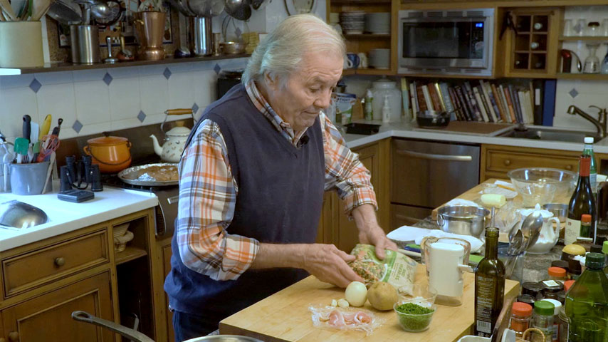 Jacques Pépin makes mixed vegetable ragout