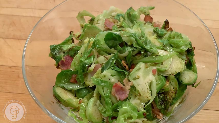 Sautéed Brussel Sprouts with Bacon