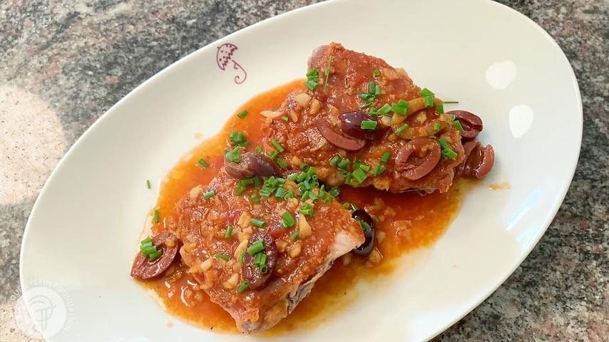 Chicken with Garlic & Vinegar Sauce