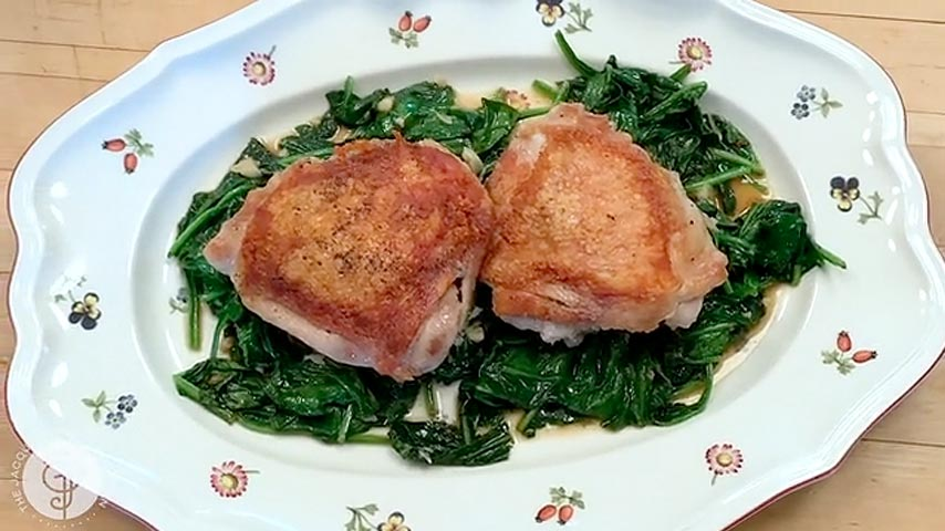 Chicken Thighs and Spinach