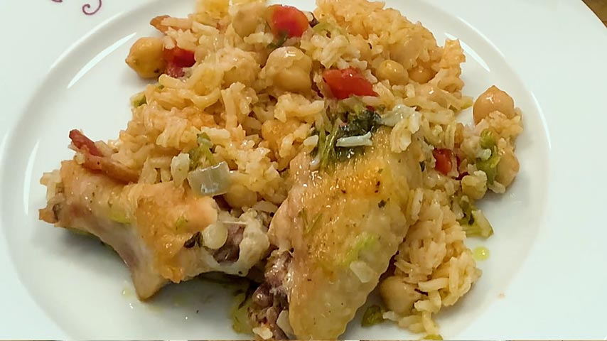 Chicken Wings with Rice and Beans
