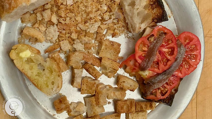 Leftover Bread Tomato Sandwich