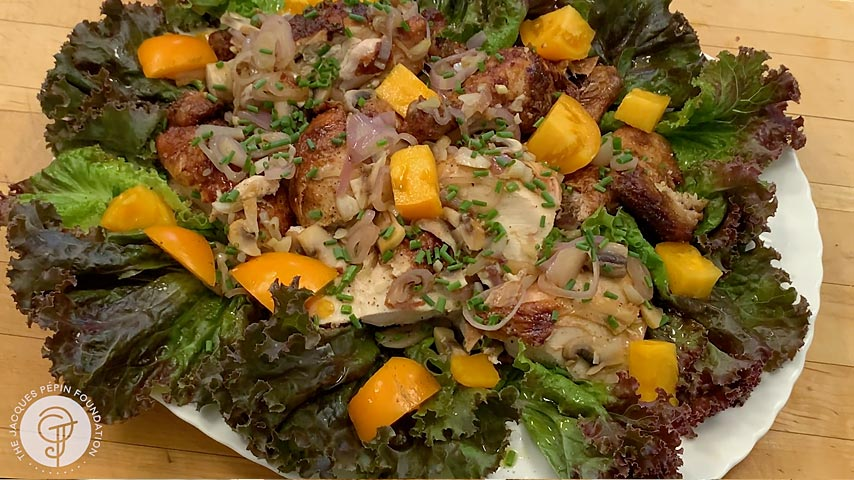 Rotisserie Chicken on Salad