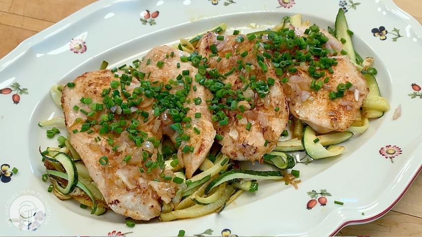 Scallopini of Chicken with Zucchini