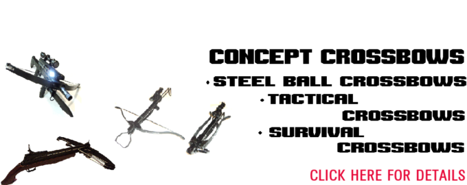 Survival crossbows, tactical crossbows, concept crossbows