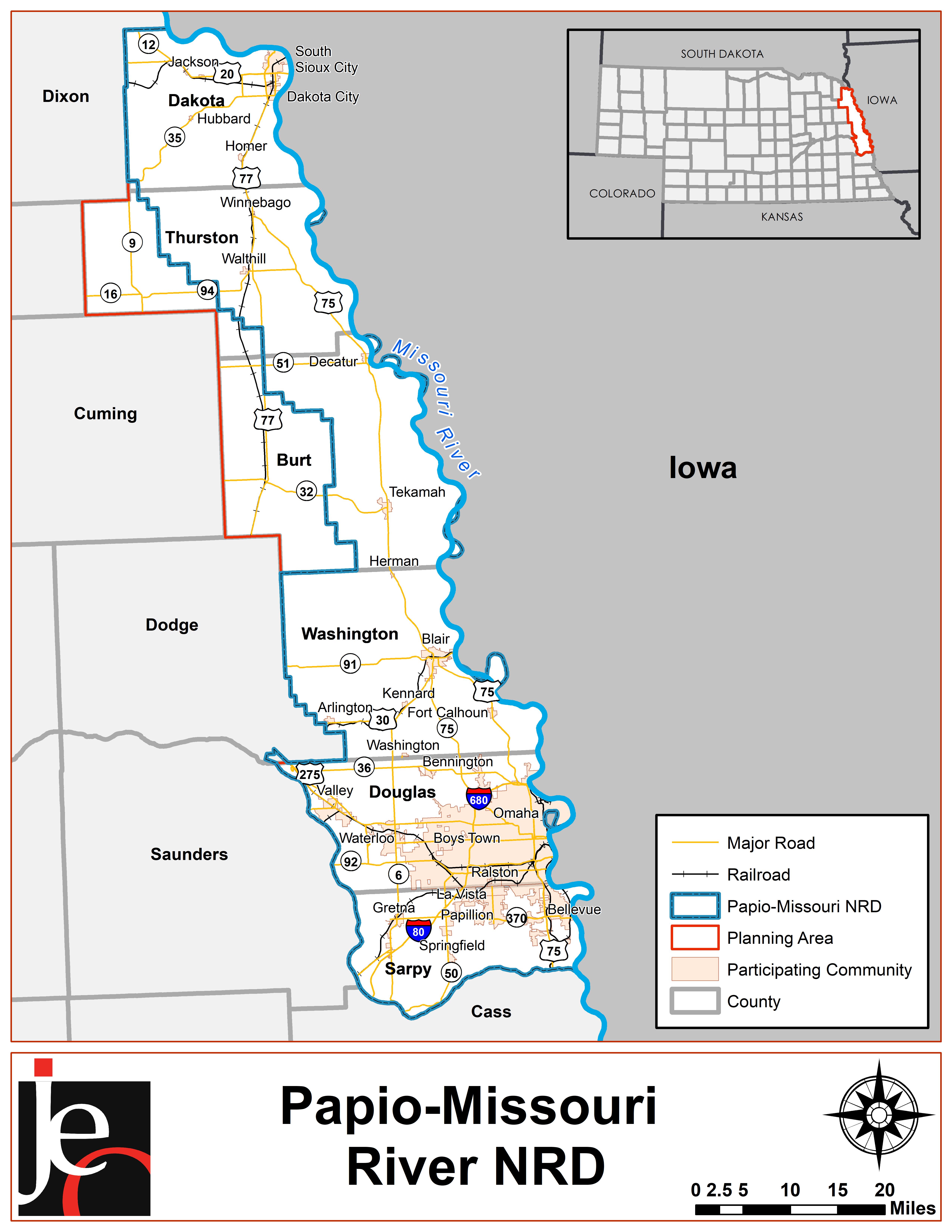 Papio-Missouri River NRD Map