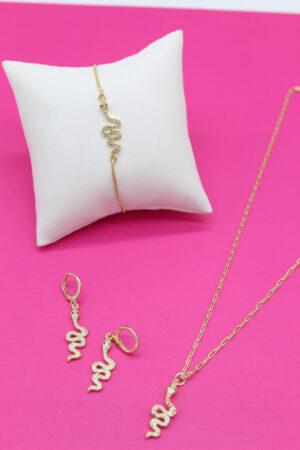 18k gold layered jewelry set