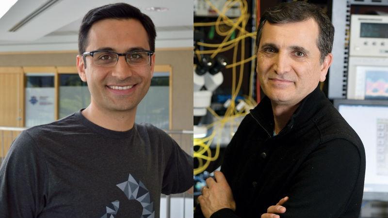 Giatec Scientific CEO Aali Alizadeh (left) and Ranovus CEO Hamid Arabzadeh. File photos.