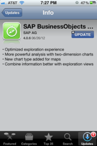 SAP BusinessObjects Explorer 4.0.6 on iOS