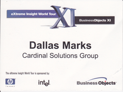 Road Show BusinessObjects XI R1 2005 400