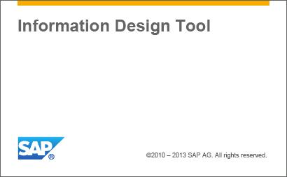 Information Design Tool 4.1 Splash Screen