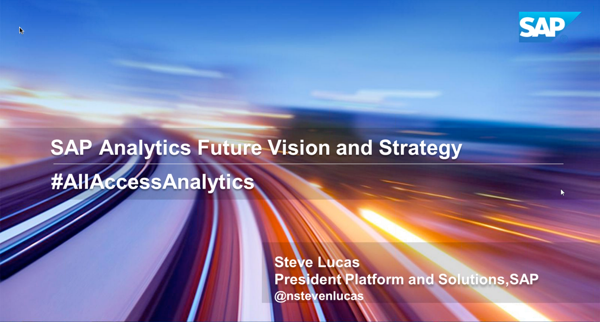 SAP Analytics Future Vision and Strategy