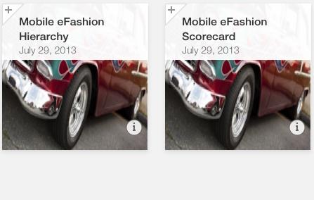 SAP Mobile BI 5.0 Thumbnails