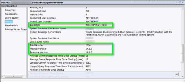 SAP BI 4.1 Build Version
