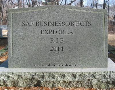 SAP BusinessObjects Explorer, R.I.P.