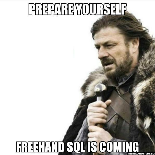 Web Intelligence and Free-Hand SQL