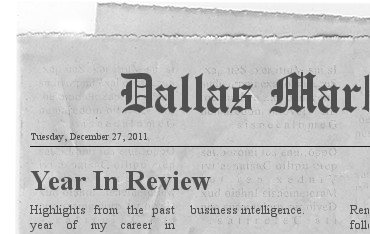 Year In Review Newspaper Headline