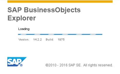 SAP BusinessObjects Explorer 4.2 Splash Screen