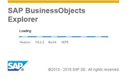 SAP BusinessObjects Explorer 4.2 Splash Screen