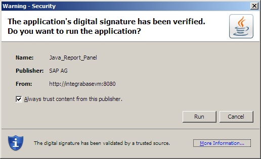 Webi certificate BusinessObjects version XI R2 SP6 FP6.4