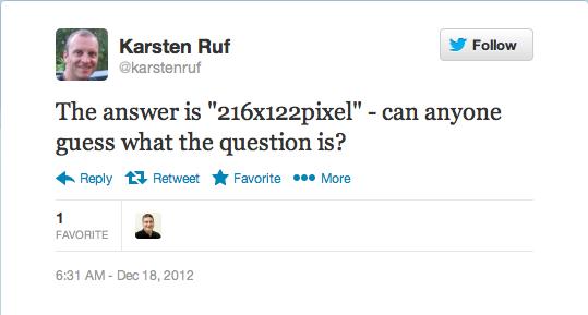 Mobile Thumbnail tweet from Karsten Ruf