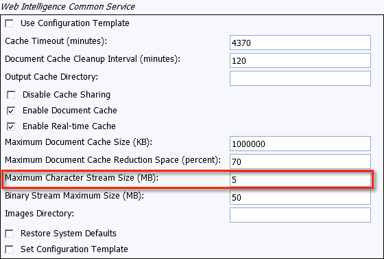 Viewing Large Web Intelligence Documents with Mobile BI