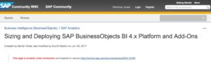 SAP Sizing Wiki for SAP BusinessObjects