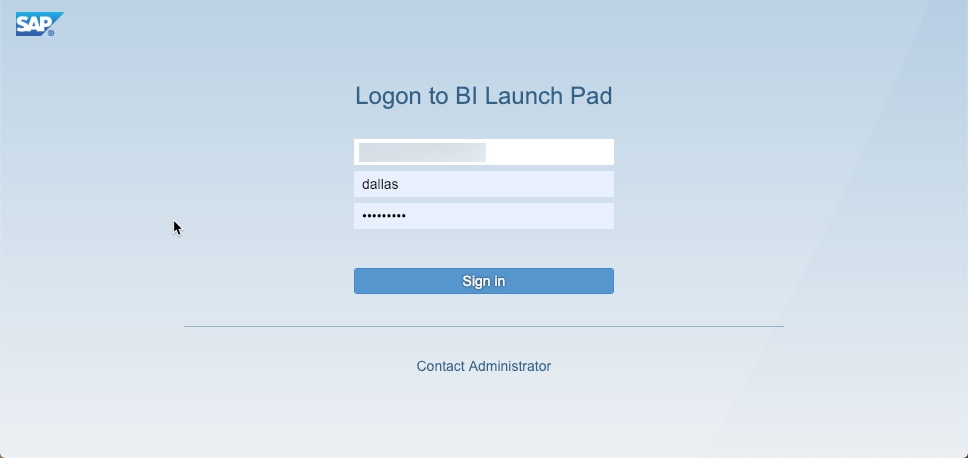 SAP BI 4.2 SP6 Fiori Launch Pad