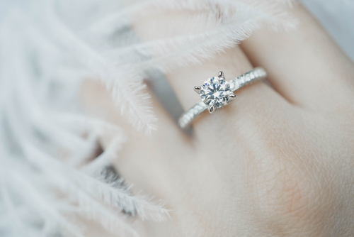 Beautiful engagement ring covered in homeowners policy