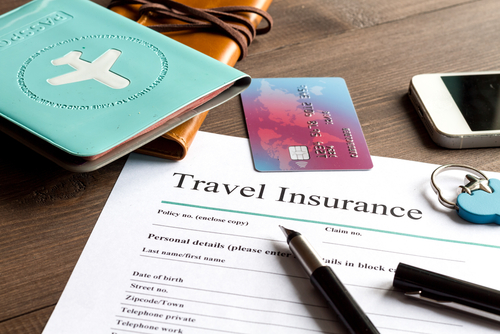 picture of travel insurance paperwork