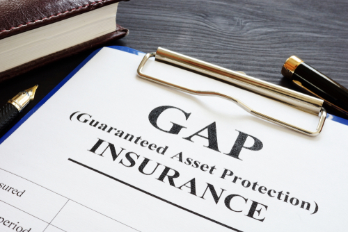 Gap insurance form on clip board