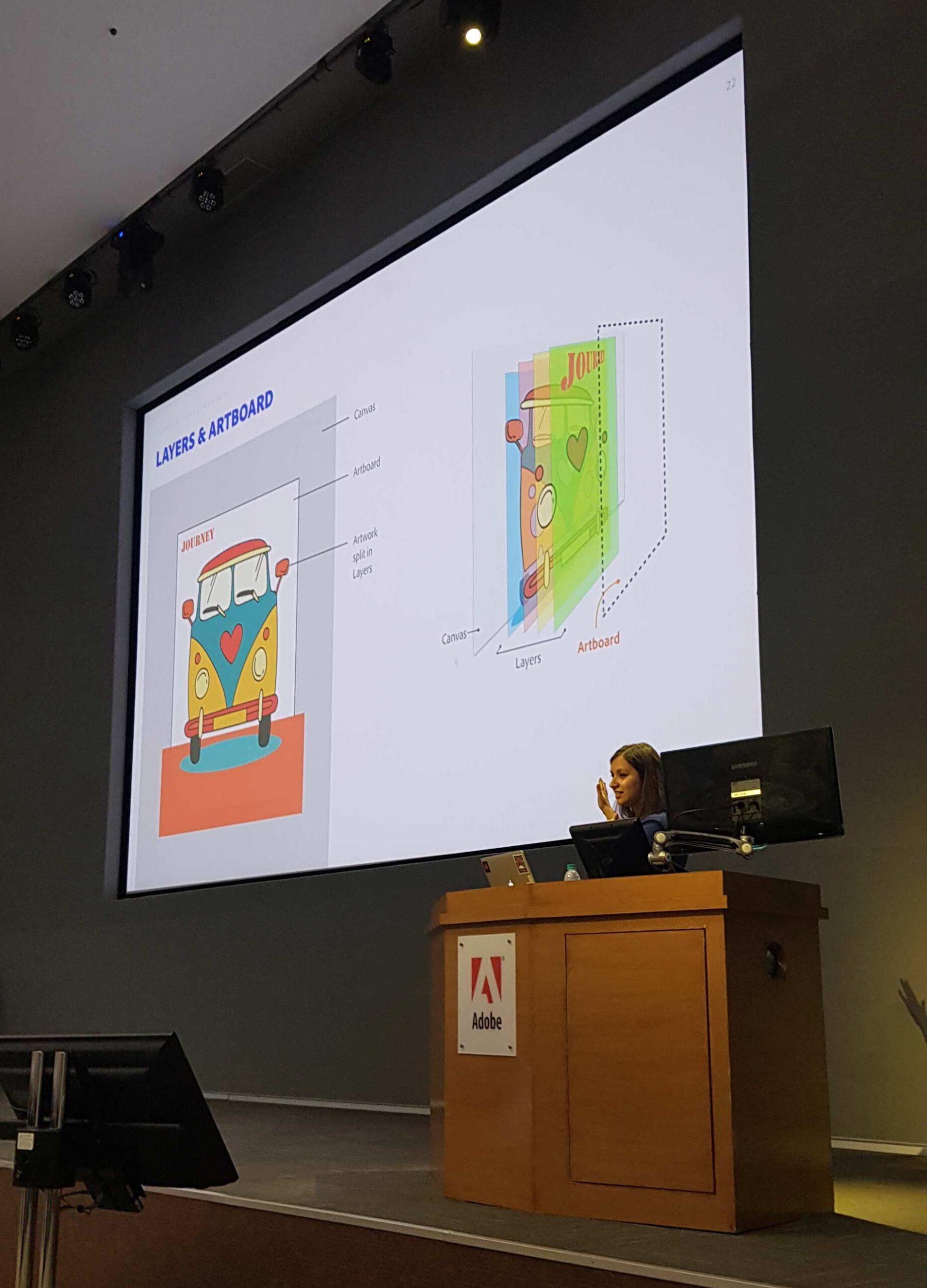 Taniya Presenting at Adobe Max