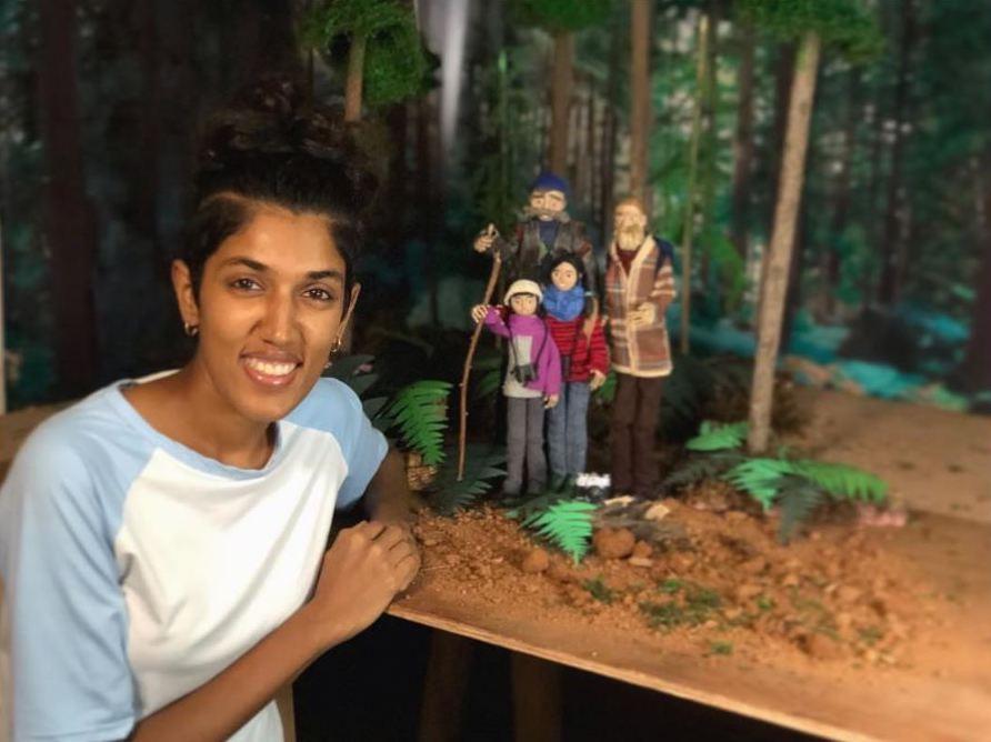 sharanya with puppets