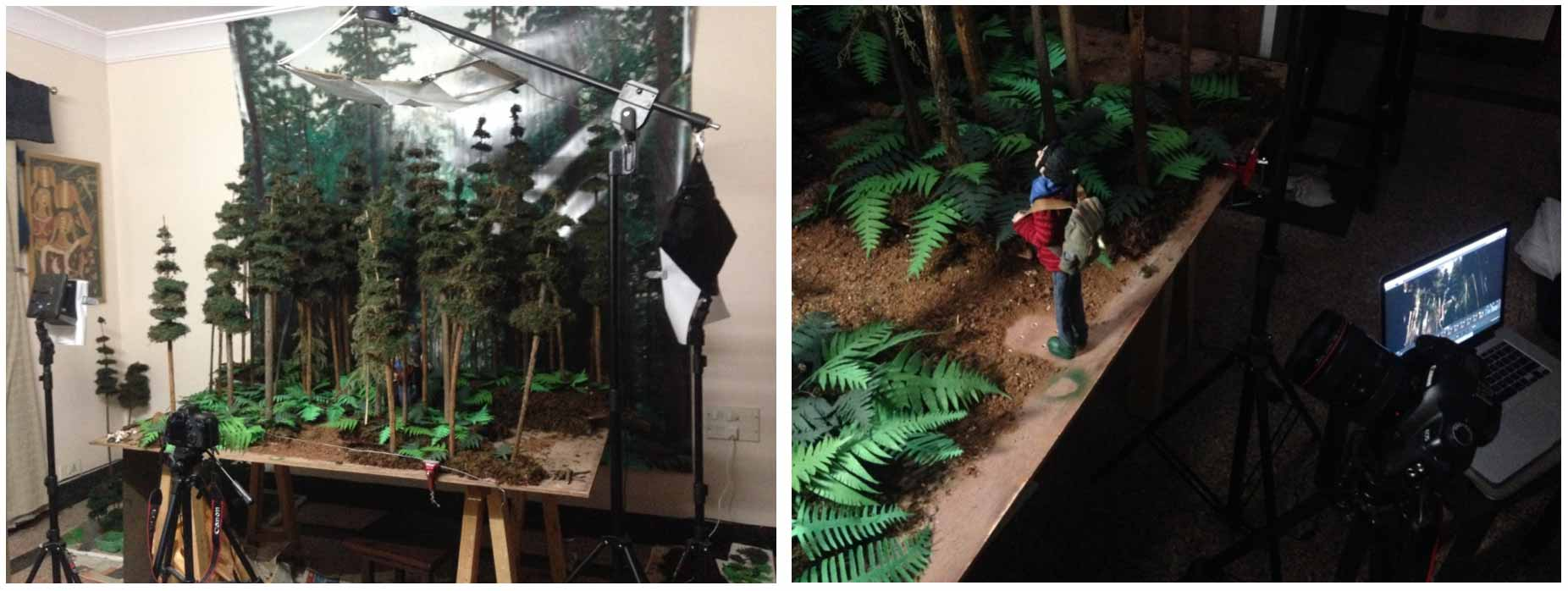 forest stop motion set