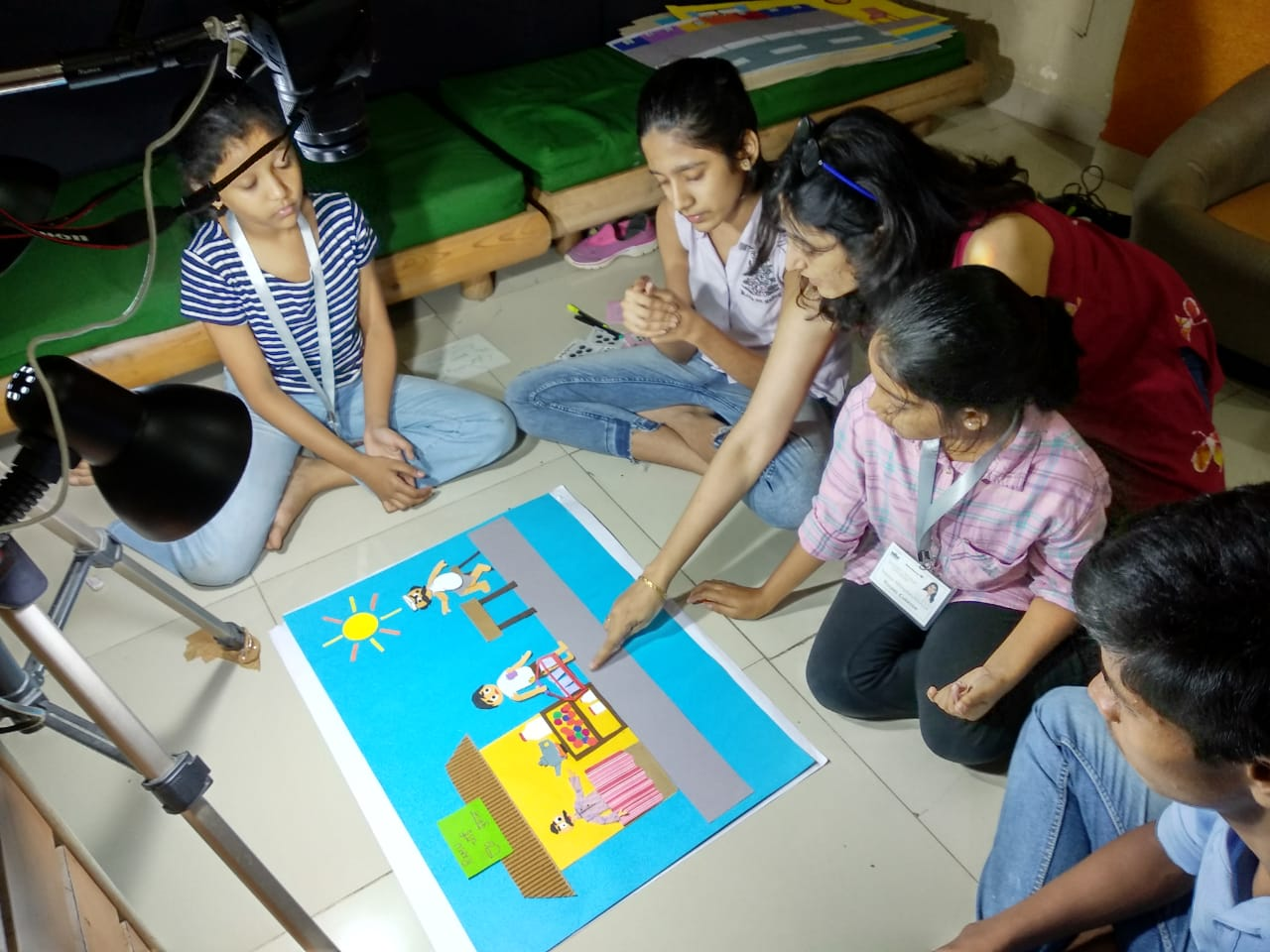 kids learning classical animation