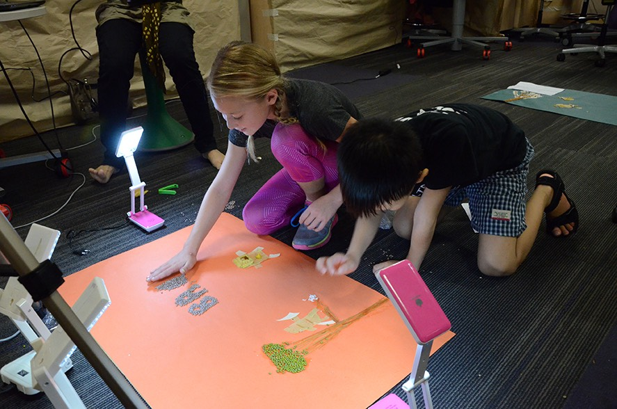 kids learning animation