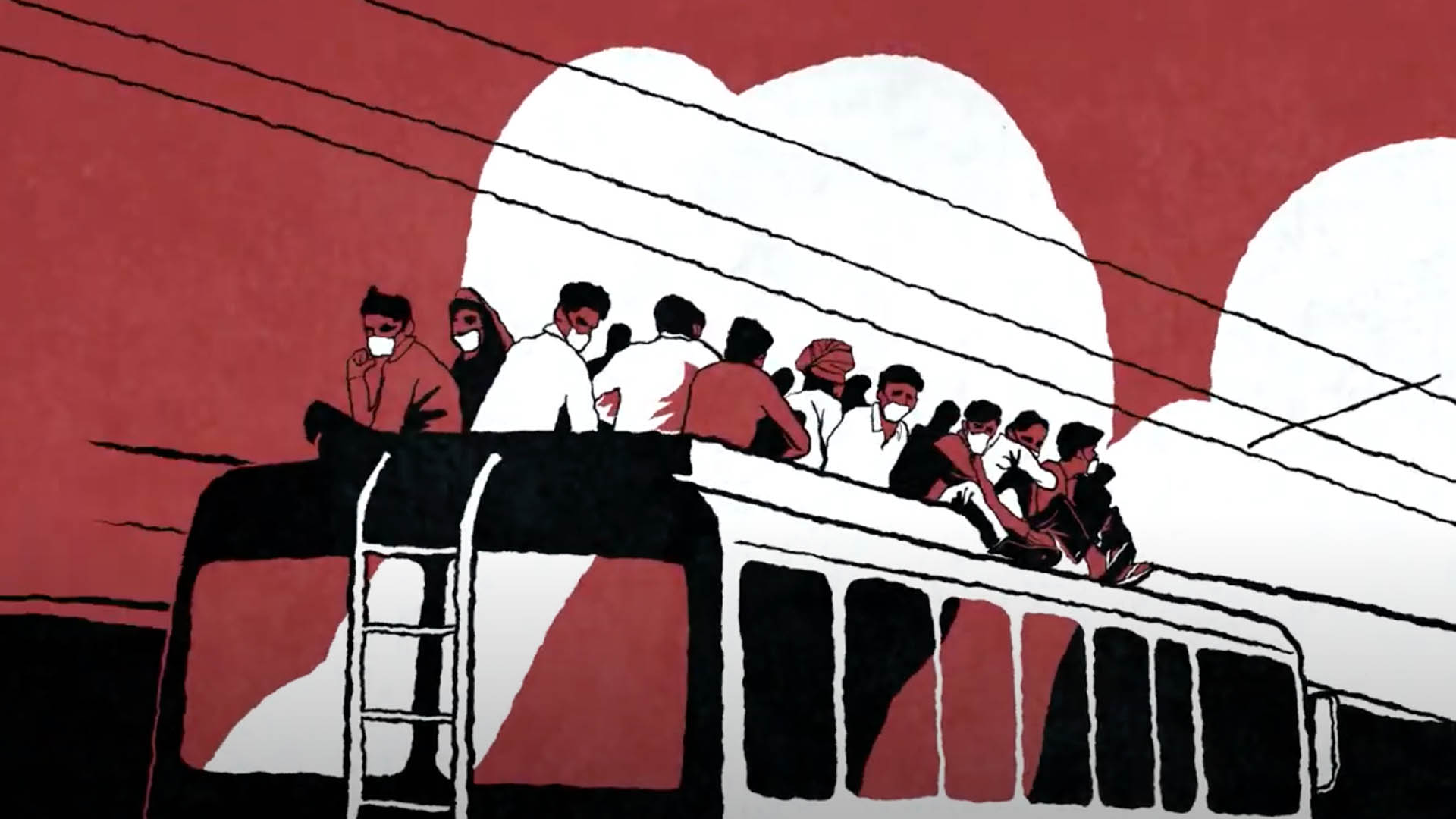 migrants on bus