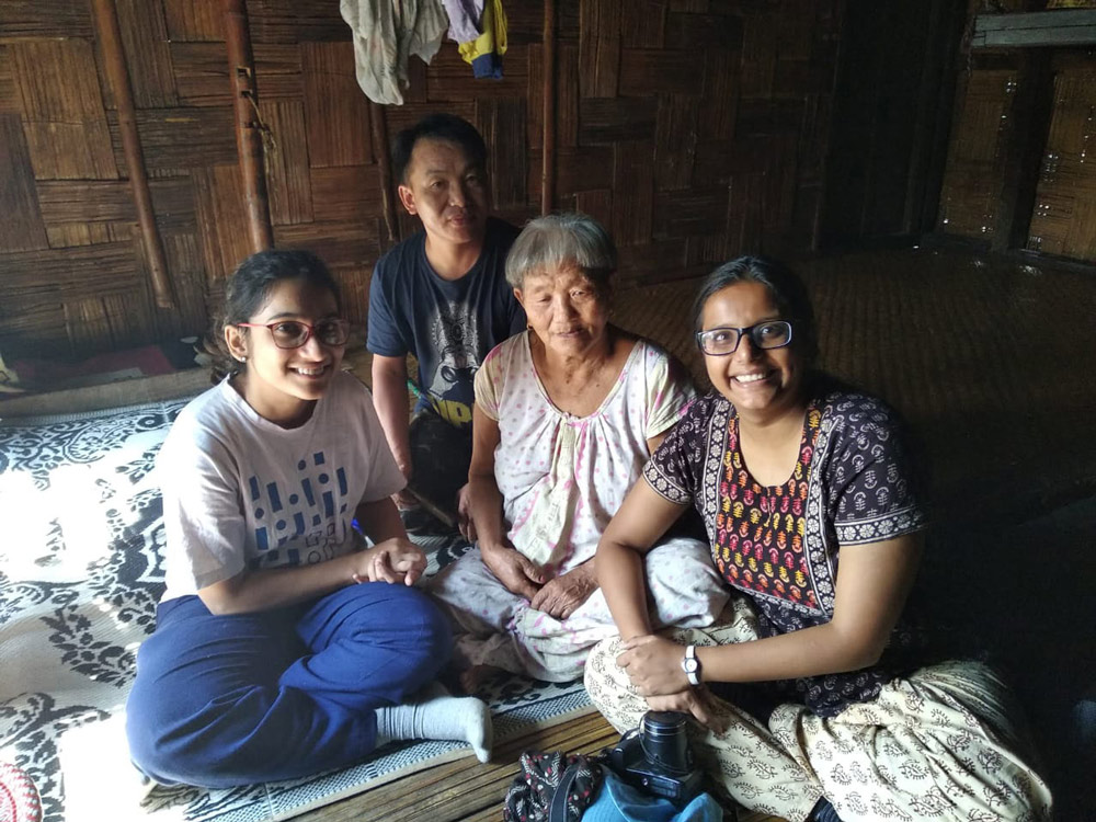 Kshipra, Anoko, Nani & Maitryee during the field trip