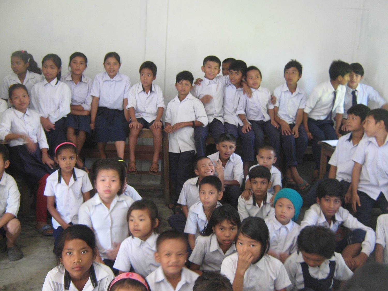 Visiting local school