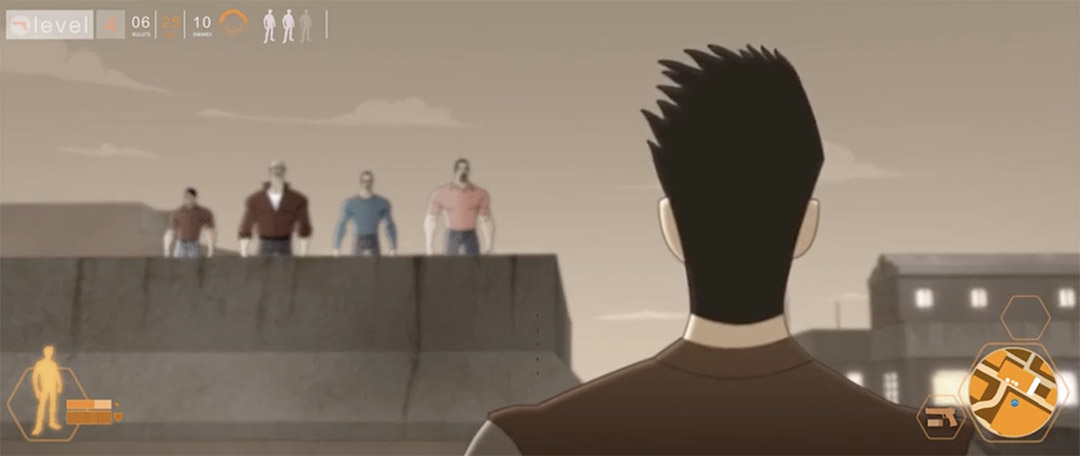 4 men on a rooftop