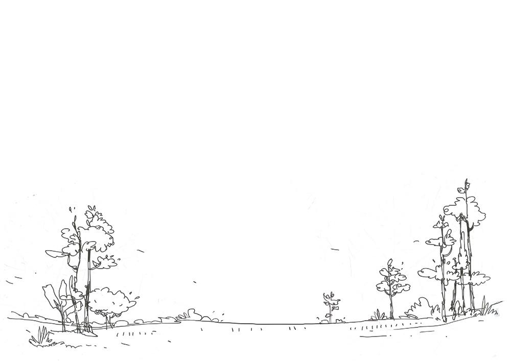 arunachal landscape line drawing