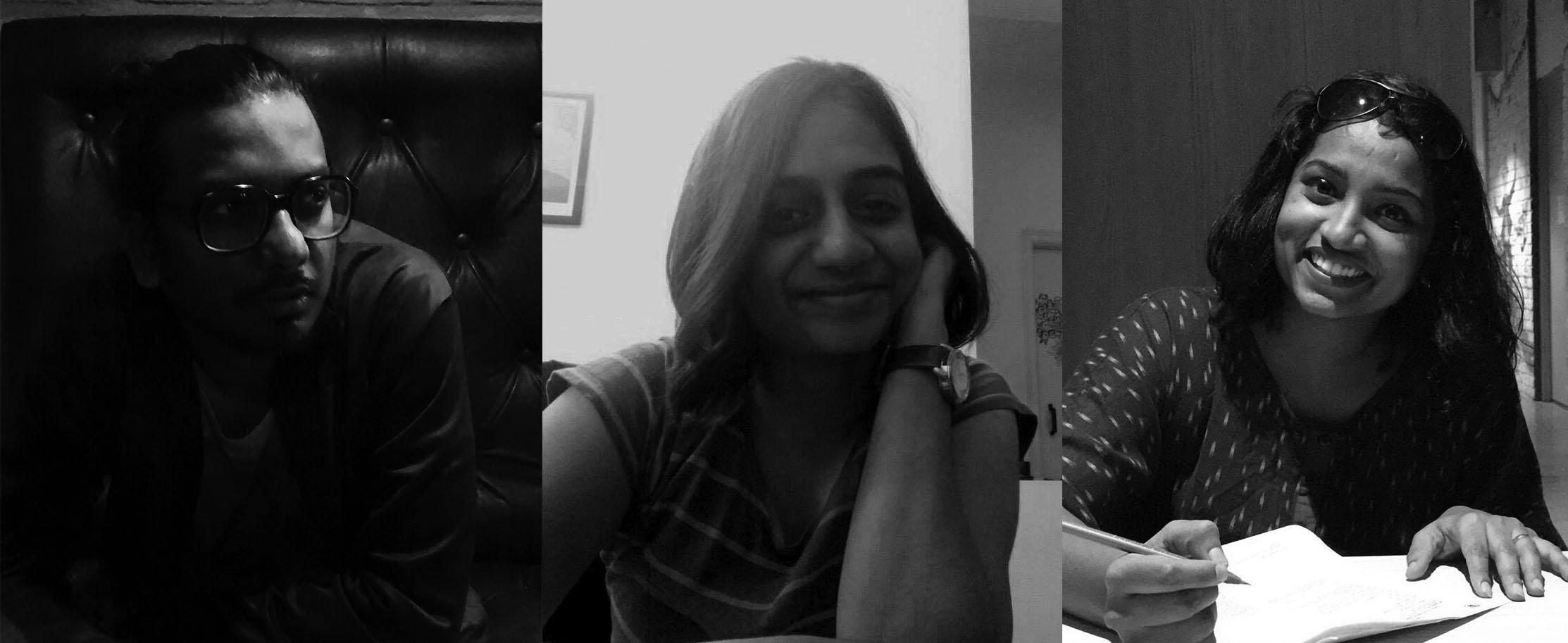 Jagan, Ainthihya and Vivette at Chitrakoothu Studio
